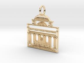 Columbia Pendant in 14K Yellow Gold