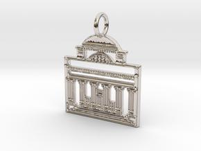 Columbia Pendant in Platinum