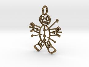Voodoo Doll of Halloween Pendant in Natural Bronze