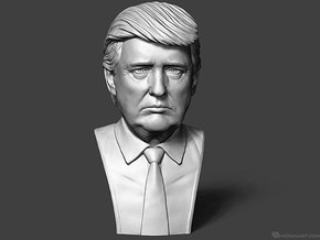 Donald Trump. Portrait bust in White Strong & Flexible