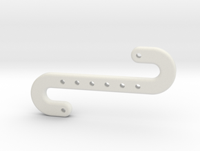Snake Hook in White Natural Versatile Plastic