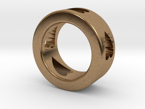 LOVE RING Size-4 in Natural Brass