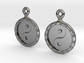 YinYang EarRings 1 - Pair - Precious Metal in Fine Detail Polished Silver