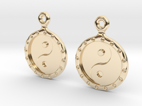 YinYang EarRings 1 - Pair - Precious Metal in 14K Yellow Gold