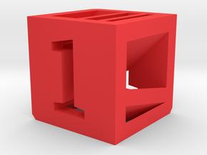 Photogrammatic Target Cube 1 in Red Processed Versatile Plastic