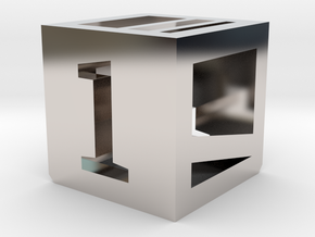 Photogrammatic Target Cube 1 in Rhodium Plated Brass
