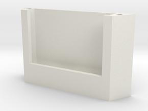 iPhoneWallDock in White Natural Versatile Plastic