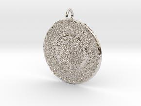 James Tru Green Pendant in Platinum