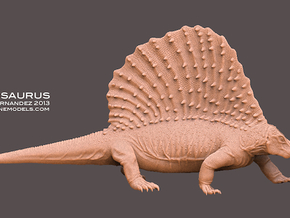 Edaphosaurus 1:20 Scale walking  in White Strong & Flexible