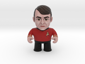 Scotty Star Trek Caricature in Full Color Sandstone