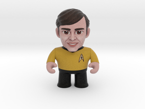 Chekov Star Trek Caricature in Full Color Sandstone
