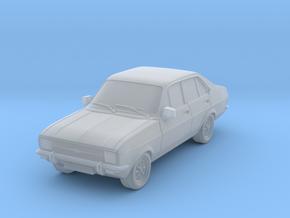1:87 escort mk 2 4 door standard square headlights in Smooth Fine Detail Plastic