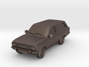 1:87 Escort mk 2 2 door estate hollow in Polished Bronzed Silver Steel