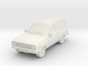 1:87 Escort mk 2 2 door van hollow in White Natural Versatile Plastic