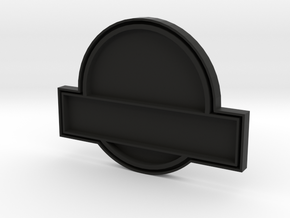 Jurassic World Badge Kit Part 2: Back Section in Black Natural Versatile Plastic
