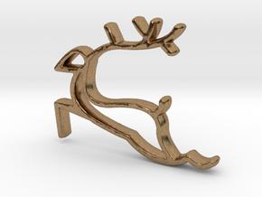 Reindeer Necklace  in Natural Brass