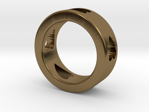 LOVE RING Size-8 in Polished Bronze