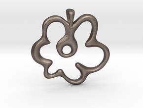 Gemini Flower in Polished Bronzed Silver Steel: Small