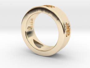 LOVE RING Size-9 in 14k Gold Plated Brass