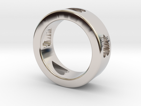 LOVE RING Size-9 in Rhodium Plated Brass