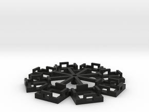 Flight Stand - 8 Dice (circle) in Black Natural Versatile Plastic