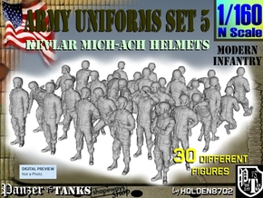 1-160 Army Modern Uniforms Set5 in Smoothest Fine Detail Plastic