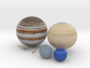 Solar System (Largest Possible) in Full Color Sandstone
