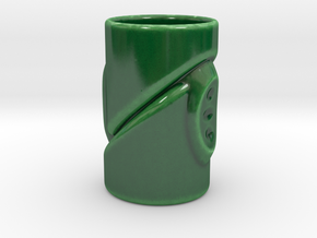 Borderline Cup  in Gloss Oribe Green Porcelain