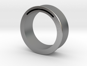 Simple Band-Nfc-Rfid Ring in Natural Silver
