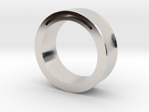 Simple Band-Nfc-Rfid Ring in Rhodium Plated Brass