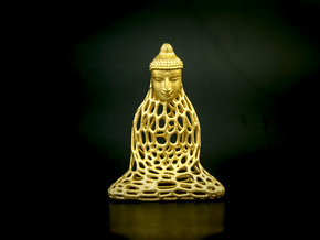 Golden Buddha in Stainless Steel