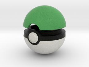 Pokeball (Green) in Full Color Sandstone