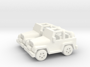 Jeep cars 40mm (2 pcs) in White Processed Versatile Plastic