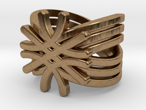 Quantum Wave Ring in Natural Brass