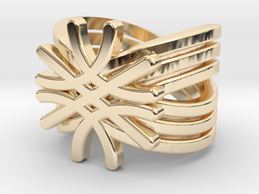 Quantum Wave Ring in 14K Yellow Gold