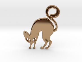 Halloween Cat in Polished Brass
