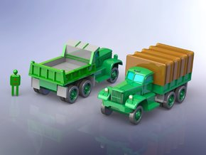 US Diamond T 968 / 972 Trucks 1/200 Scale in Smooth Fine Detail Plastic