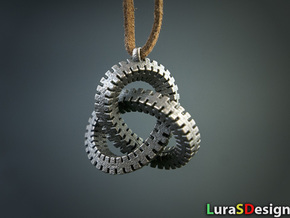 Escher Knot Pendant in Polished Bronzed Silver Steel