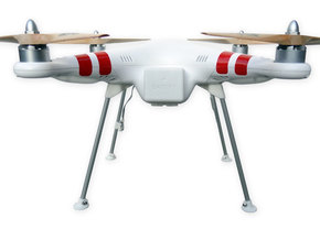 DJI Phantom Wide Landing Gear in White Natural Versatile Plastic