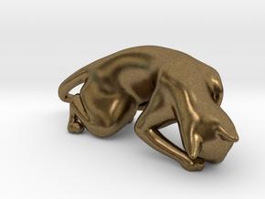 Hunting Cat in Natural Bronze