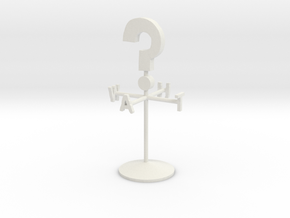 Giant Weather Vane in White Natural Versatile Plastic