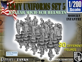 1-200 Army Modern Uniforms Set5 in Smoothest Fine Detail Plastic