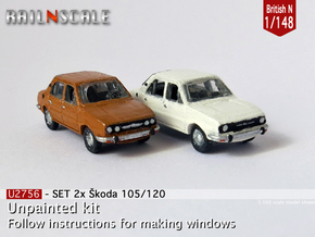 SET 2x Skoda Estelle (British N 1:148) in Frosted Ultra Detail