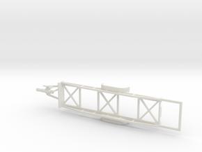 1002 Langmaterialanhänger HO mit Verlängerung ausg in White Natural Versatile Plastic