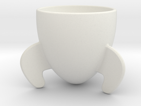 Rocket coffee mug in White Natural Versatile Plastic