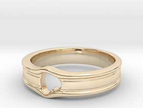 HEART_LINE in 14k Gold Plated Brass