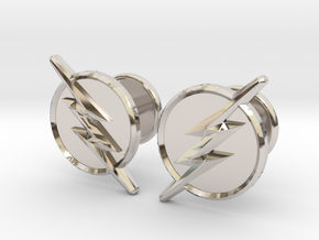Flash Cufflinks in Rhodium Plated Brass