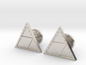 Triforce Cufflinks in Rhodium Plated Brass