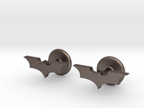 Dark Knight Cufflinks in Polished Bronzed Silver Steel