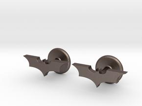 Dark Knight Cufflinks in Polished Bronzed Silver Steel